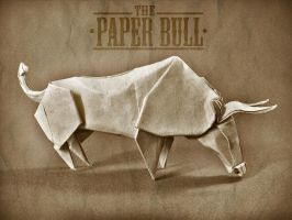 The paper Bull by alejandro-delafuente