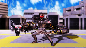 [MMD] RYUGA: FINAL VENT! by handashin