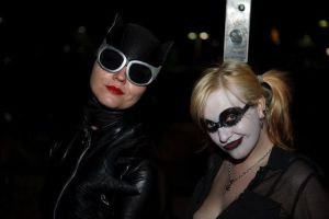 Harley Quinn and Catwoman by MooneWolfe