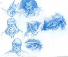 Arkham city doodles' characters by yukyumme