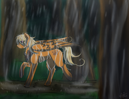 Lion Tamer strolls in the Rain {AT} by ScarletsFeed
