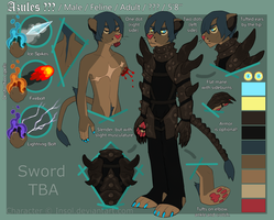 Anthro!Azules reference sheet OCTOBER 2015 by Insol