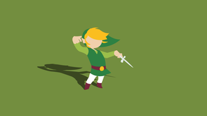 Minimal Wind Waker Wallpaper (With Shadow) by Cheetashock