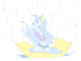 Shorty Shorts in the Rain by buttsprincess