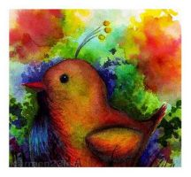 Bird watercolor by carmen23leo