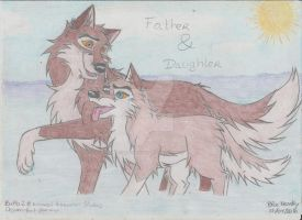 Balto and Aleu-Father and Daughter by BlueKrovsky