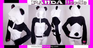 Stylized Panda Hoodie by KayPikeFashion