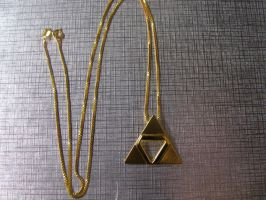 Zelda TriForce Necklace by camias