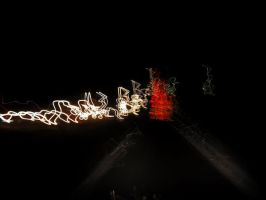 Tail Lights on the road 2 by Takeshenstein