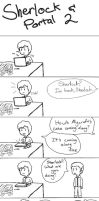Sherlock should not play Portal 2 by Miniflip999