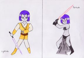 Raven-The Jedi and the Sith by lordtrigonstar