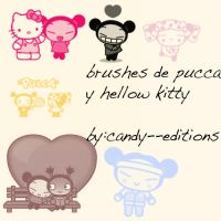 brushes hellowkitty... by mundoasnicar