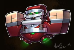 Mecha Santa by kidchuckle