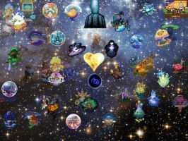 The Worlds of Kingdom Hearts by VexenRandomDrawerGuy