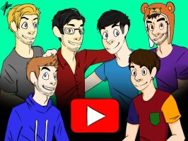 Youtubers by jesisnotonfire