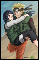Naruto and Hinata by Kasukiii