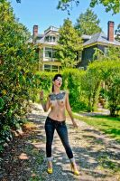 Pia in the back yard 1 by LCMisfitStudios