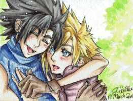 FFVII - Zack and Cloud #1 by BlackCherryCookie