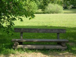 Wooden Park Bench 02 by Lengels-Stock