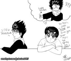 the secret to Hiei's hair? by amethyst-rose