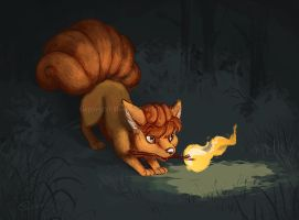 Vulpix - Little Lost Flame by HannahMericle
