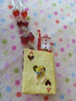 Alice Card Biscuit Necklace by Rotting-Soul