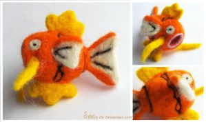 Needle Felted Magikarp FOR SALE by Sovriin