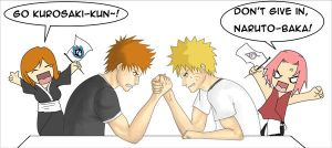 Naruto vs Ichigo... in a way by Artec