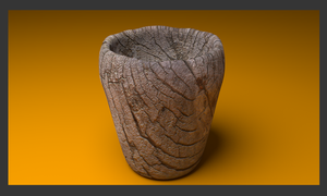 Wood Cup/Vase  ( 3D model I made in Blender ) by awesome43