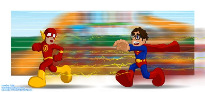 The Flash vs Superman: The Play School Years by henokvr22
