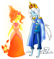 Flame Princess and Ice Prince Finn by Rumay-Chian
