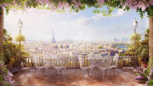 Paris in the morning by NM-art