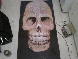 skull painting update by llothcat