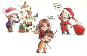 Chibi KAT-TUN: Merry Christmas by stephmendes