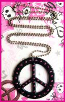 Peace Sign Necklace by cherryboop