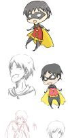 Young Justice: Dickie Doodles by fireykaigurl