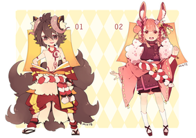 Adoptables: Lacynes Set 02 -CLOSED- by redsake-adopts
