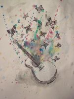 Butterfly Guitar by PiscesWriter8