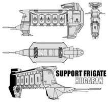 Hiigaran Support Frigate by Pasteljam