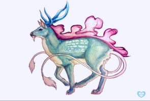 Suicune Watercolor by PokeShoppe