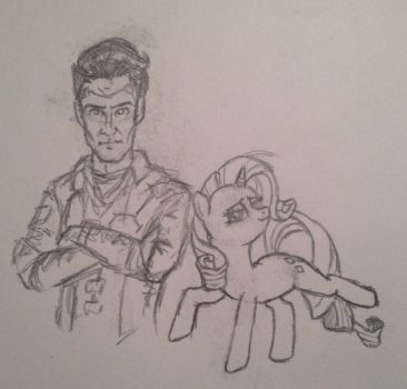 Handsome Jack and Rarity by Roach321546