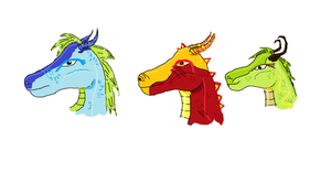 Some Dragonheads by Sonnenelfe