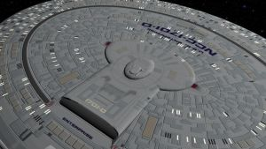 Close Up of Enterprise D by AlleycatCY