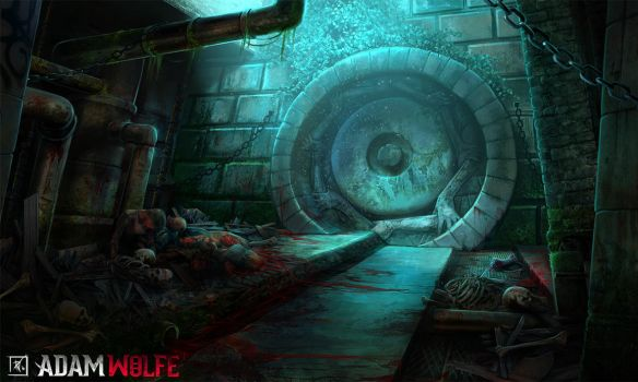 Adam Wolfe - Sewer Battleground by DeadlyNinja