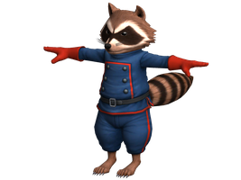 Rocket Raccoon model UMVSC3 psk mod files by sidneymadmax