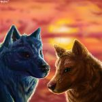Together on the edge of the world by TheHyenaintown