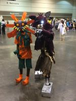 Skull kid and Foxy by Mrdrawinglover
