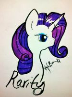 Rarity Color Sketch by ApocalypseKitty