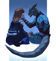 Commission: Thorhild and Nuleenama by hyperionwitch