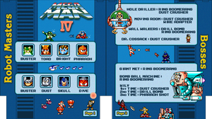 Mega Man 4 NES Cheat Sheet by Moelleuh